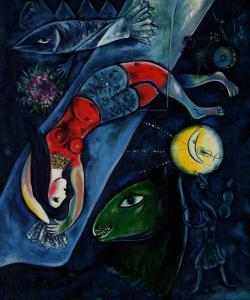El circo azul. Marc Chagall.