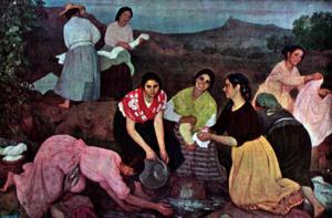 Lavanderas. Eugenio Hermoso