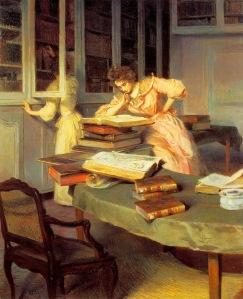 edouard-gelhay-francia-1856-1939-mujeres-elegantes-en-una-biblioteca
