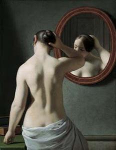 christofer eckerber-mujer ante el espejo