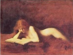 Mujer leyendo. Henner