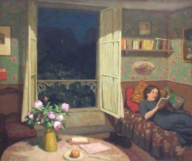 """TAVIK FRANTIŠEK ŠIMON, """"Vilma leyendo un libro"""""""